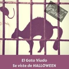 El Gato Viudo se vistió de halloween…y yo le ayudé!