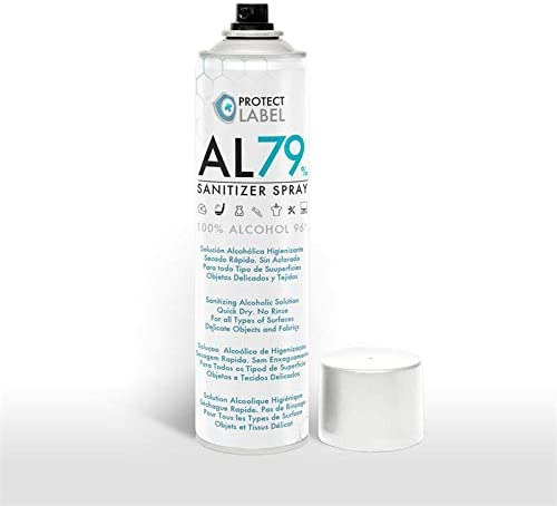 Hidroalcohol en Spray 200ml. Protect Label Higienizante multisuperficies 79% Alcohol