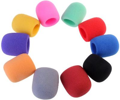 Fundas de espuma de colores para micrófono